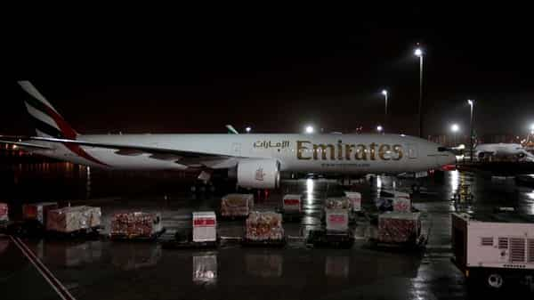 FILE PHOTO: Emirates airlines planes stand parked at Dubai International Airport, Photo: Reuters