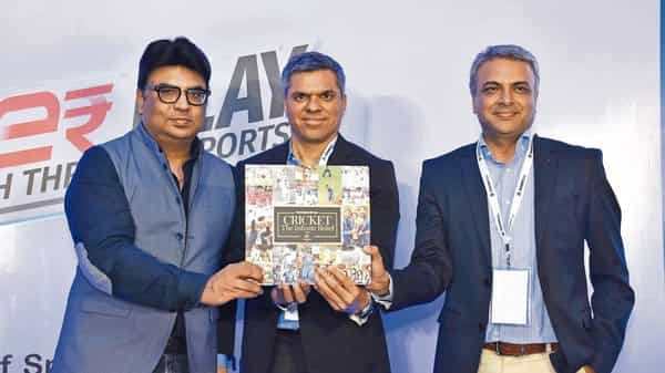 (From left to right) Rajan Bhalla, Hindustan Times; Amit Chopra, president-sales, Star Network, and Anil Jayaraj, EVP-ad sales, Star Sports unveil Cricket:The Infinite Belief, at an event in Mumbai.