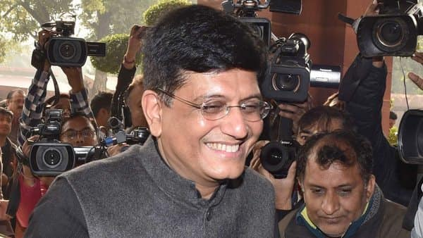 The Union Minister for Railways, Coal, Finance and Corporate Affairs Piyush Goyal arrives at Parliament House to present the Interim Budget 2019-20 in New Delhi on Friday. (ANI Photo)