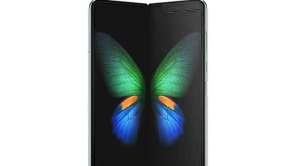 Samsung's new Galaxy Fold smart phone which features the world's first 7.3-inch Infinity Flex Display that works with the next-generation 5G networks is seen in this image. (Reuters)