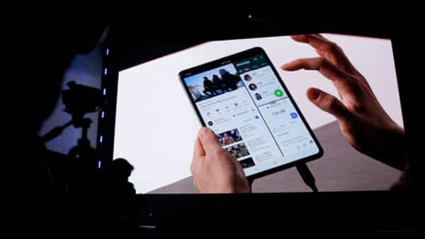 Samsung with the Galaxy Fold unleashes the same kind of race that Apple started with the iPhone in 2007. (Eric Risberg/AP)