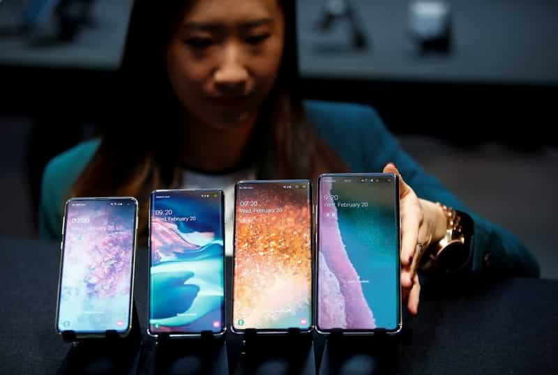 The Samsung Galaxy S10e is the smallest and the most affordable smartphone in the Galaxy S10 family. All Galaxy S10 smartphones come with Super AMOLED Infinity-O displays, Samsung's One UI based on Android Pie and either Qualcomm's Snapdragon 855 SoC or Samsung's Exynos 9820 chipset.  (Reuters)