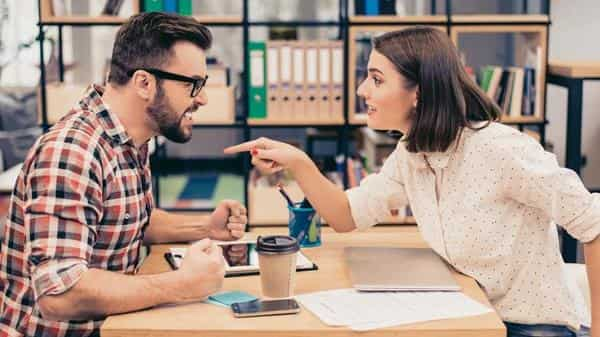 Try to stay silent and listen to the other party as opposed to crafting a scathing response (iStock)