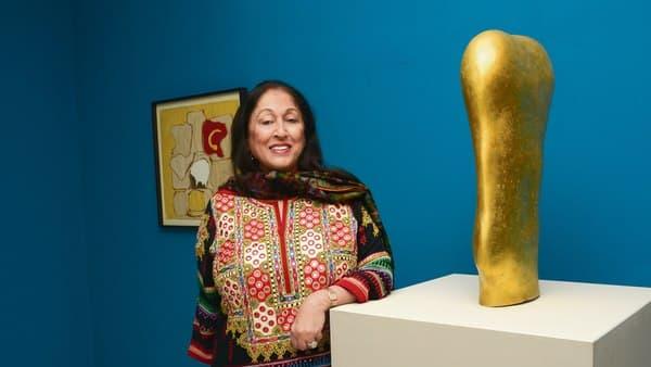 Kiran Nadar at her museum in Delhi.