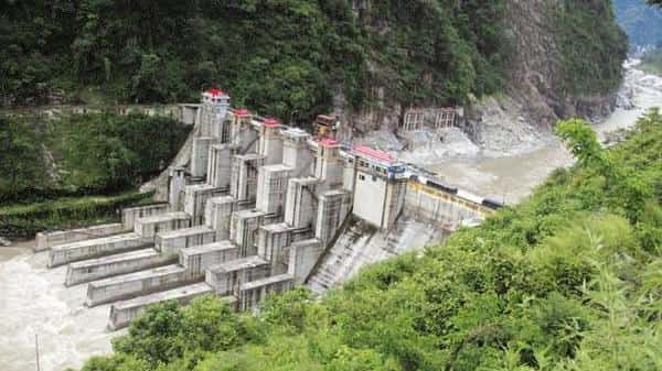 A file photo of an NHPC hydroelectric project. Photo: AFP