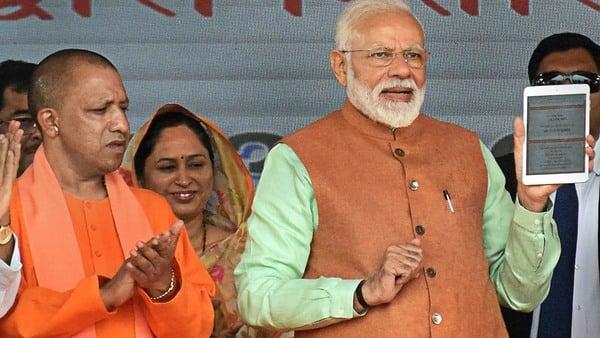 Prime Minister Narendra Modi launched the 'Kisan Samman Nidhi Yojna' in Gorakhpur, Uttar Pradesh, on 24 February. (PTI)