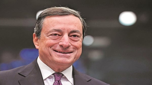 Mario Draghi, the president of the European Central Bank (ECB) is due to retire by November 2019. (AFP)