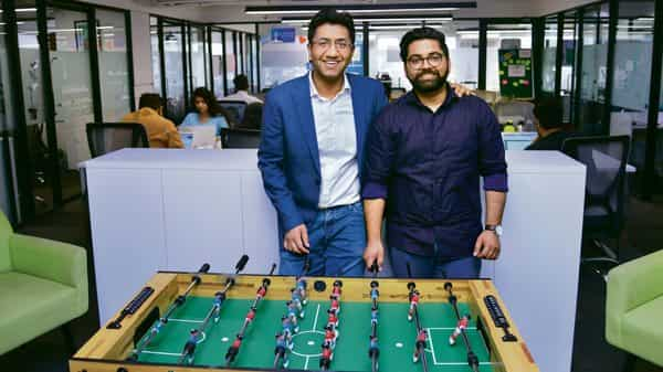 Rohan Pant (right) with Ishan Gupta, MD of Udacity, says their best brainstorming sessions happen over foosball.
