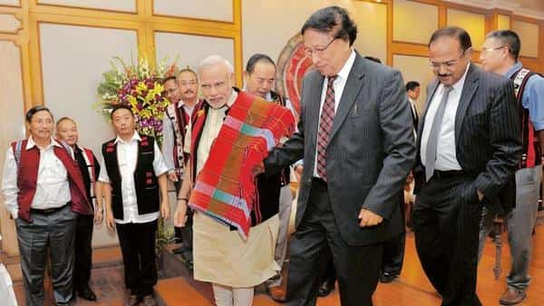 The framework agreement with NSCN (I-M) was signed with much fanfare in the presence of the PM. Photo: PTI