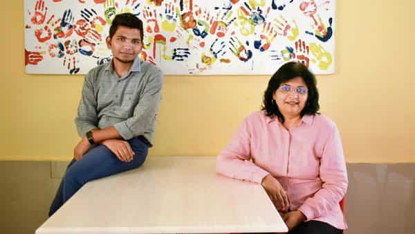 Vishwadeep Gautam (left) was scouted on Facebook; HR expert Bina Patil says attracting talent via social media is now a given. (Photographs by Jithendra m/Mint)