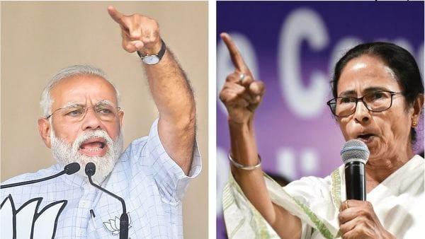 PM Narendra Modi and West Bengal CM Mamata Banerjee. (PTI & HT)
