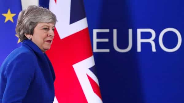 British Prime Minister Theresa May in Brussels. Photo: Reuters
