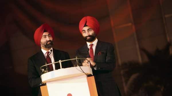 Singh brothers—Malvinder (left) and Shivinder. (HT)