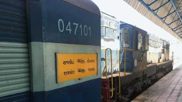 The Rajkot-Porbandar Express is cheap and fast, but it's also overcrowded and desperately in need of new coaches. (Varun Sood)