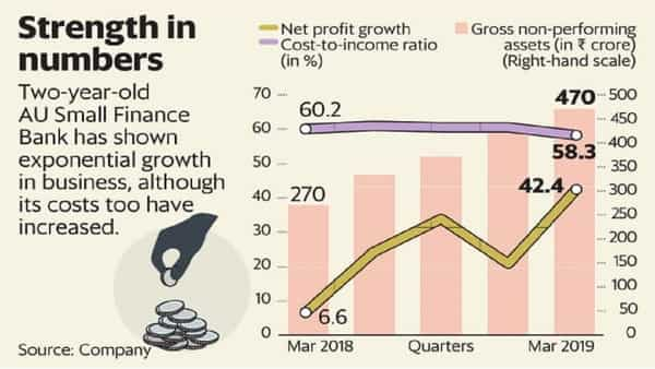 Lending to small borrowers has its own risks and these are not adequately priced in the AU Small Finance Bank stock. (Naveen Kumar Saini/Mint)