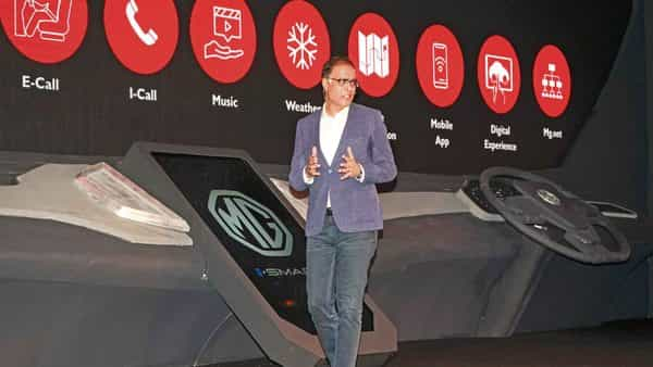 MG Motor India president and MD Rajeev Chaba in New Delhi.  (PTI)