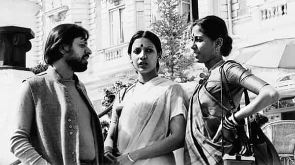 In 2017, Azmi tweeted a photograph from a Cannes visit in 1976—of her and Smita Patil in saris, draped two different ways.