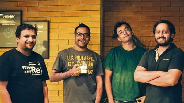 Dunzo founders (from left) Ankur Aggarwal, Mukund Jha, Kabeer Biswas and Dalvir Suri.