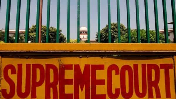 A signboard is seen outside the premises of Supreme Court in New Delhi, India, September 28, 2018.  (Reuters )