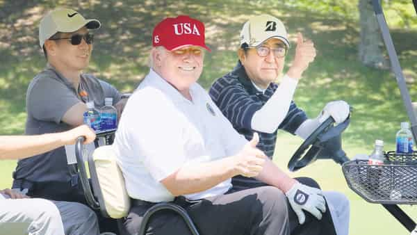 It's the fifth time they played golf together since Trump took office (Photo: Reuters)