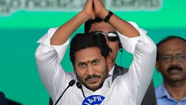 Newly elected Andhra Pradesh Chief Minister YS Jaganmohan Reddy gestures during his swearing-in ceremony (PTI Photo)