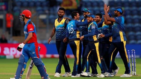 Sri Lanka players celebrate after Afghanistan's Najibullah Zadran gets run out (Photo: Reuters)