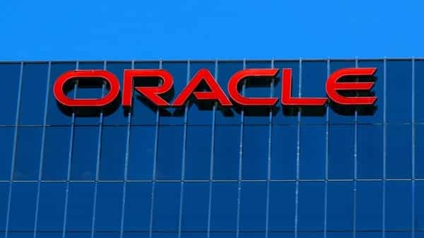 The Oracle logo.  (Reuters )