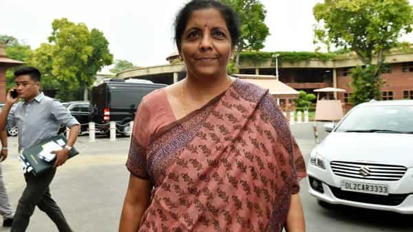Finance Minister Nirmala Sitharaman during the Budget Session, in New Delhi (Photo: PTI)
