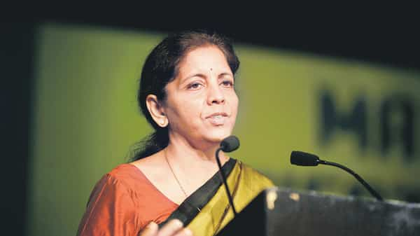 A file photo of finance minister Nirmala Sitharaman