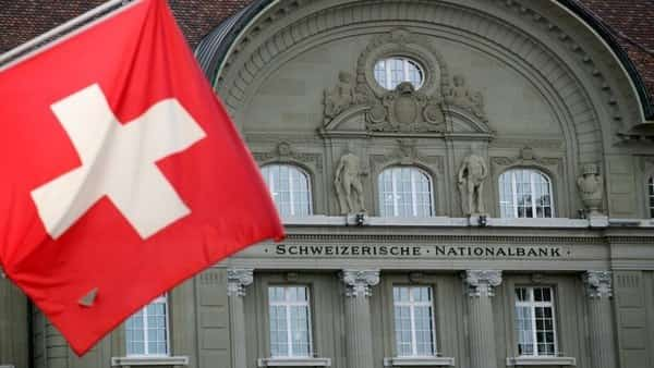 A Swiss flag is pictured in front of the Swiss National Bank (SNB) in Bern, Switzerland. (Reuters )