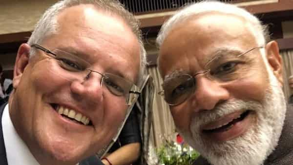 Australian PM Morrison tweets a selfie with PM Narendra Modi