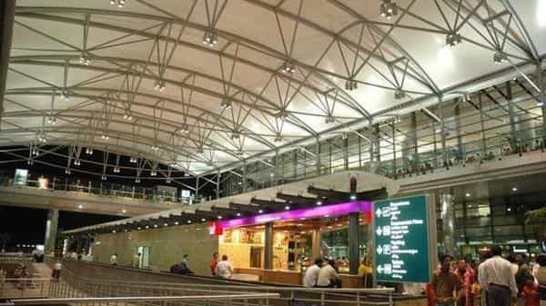 The new interim international departure terminal of Hyderabad airport is just 5 minutes away from the existing terminal. Photo: Mint