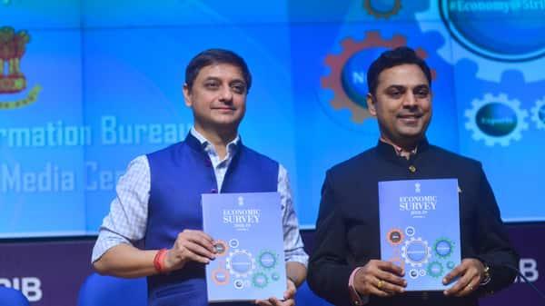 The Economic Survey was prepared by Chief Economic Adviser Krishnamurthy Subramanian. (Ramesh Pathania/Mint)