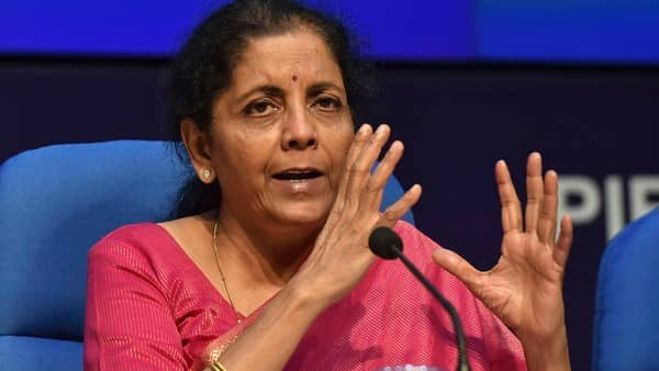 Finance Minister Nirmala Sitharaman announced the decision to make PAN and Aadhaar interchangeable soon. (PTI)