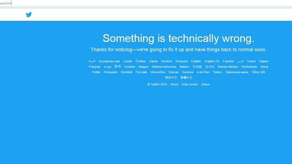 Twitter suffers widespread outage, shares down