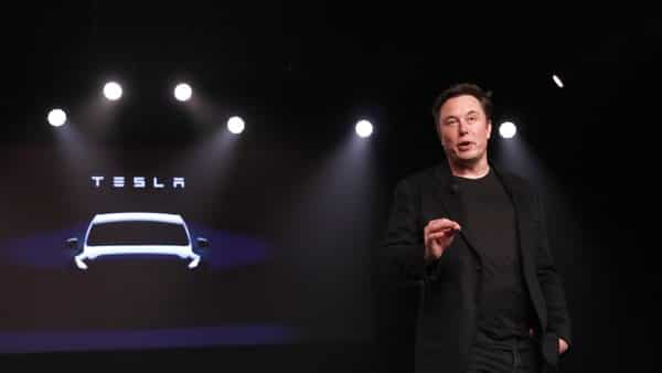 Elon Musk, co-founder and chief executive officer of Tesla Inc