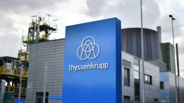 The logo of German corporation ThyssenKrupp.  (AFP)