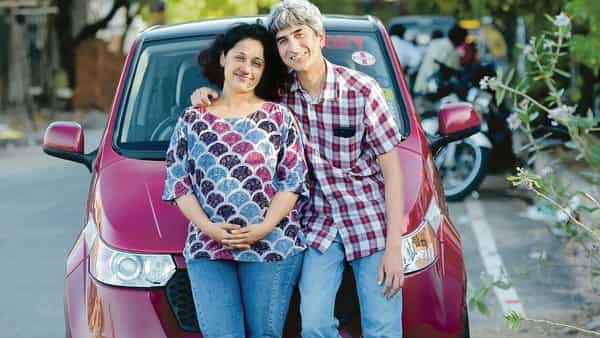 Chennai-based Arvind Sivasundar and his wife Nrutya Subramanyam have been using electric vehicles for eight years now. (Sai Sen/Mint)