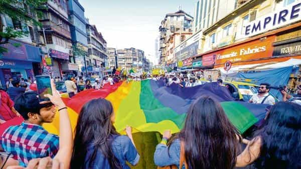Members of the LGBTQ community during a Pride March (Photo for representational purpose only) (Mint file)