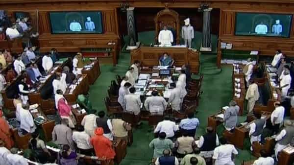 A general view of Lok Sabha, in New Delhi on Monday.  (ANI )