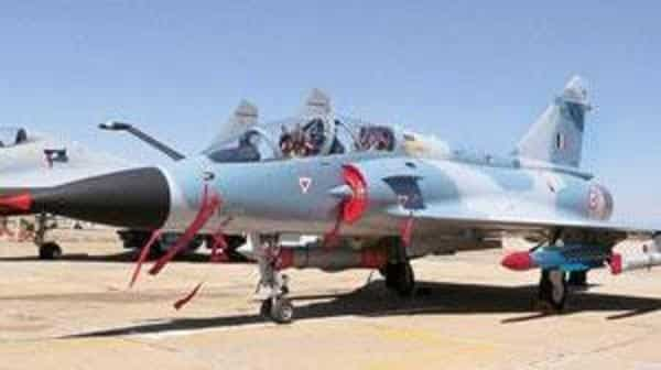 A Mirage 2000 fighter aircraft of the Indian Air Force.