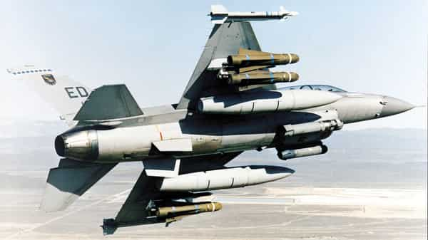 An F-16 fighter jet (Bloomberg file)