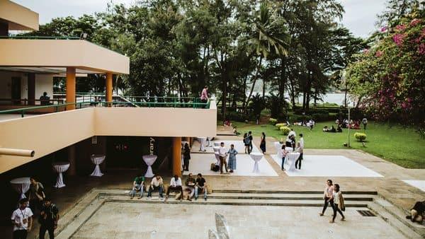 The airy, open feel of Panaji's Kala Academy is enhanced by its dramatic location by the Mandovi river. (Photo: Fabian Franco)