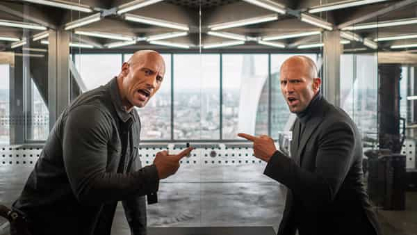 A still from the movie 'Hobbs & Shaw'.