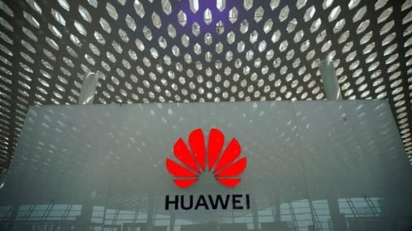 A Huawei company logo at the Shenzhen International Airport in Shenzhen, Guangdong province, China.  (Reuters )