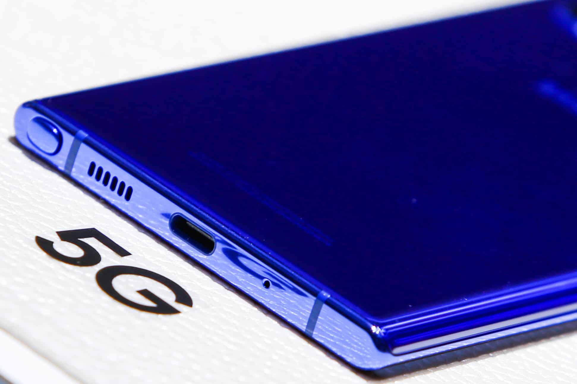 Close up of the Samsung Galaxy Note 10 during the launch event of the Galaxy Note 10 at the Barclays Center in Brooklyn, New York, US. (Reuters)