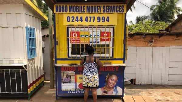 Mobile money in Accra, Ghana. (Bloomberg)