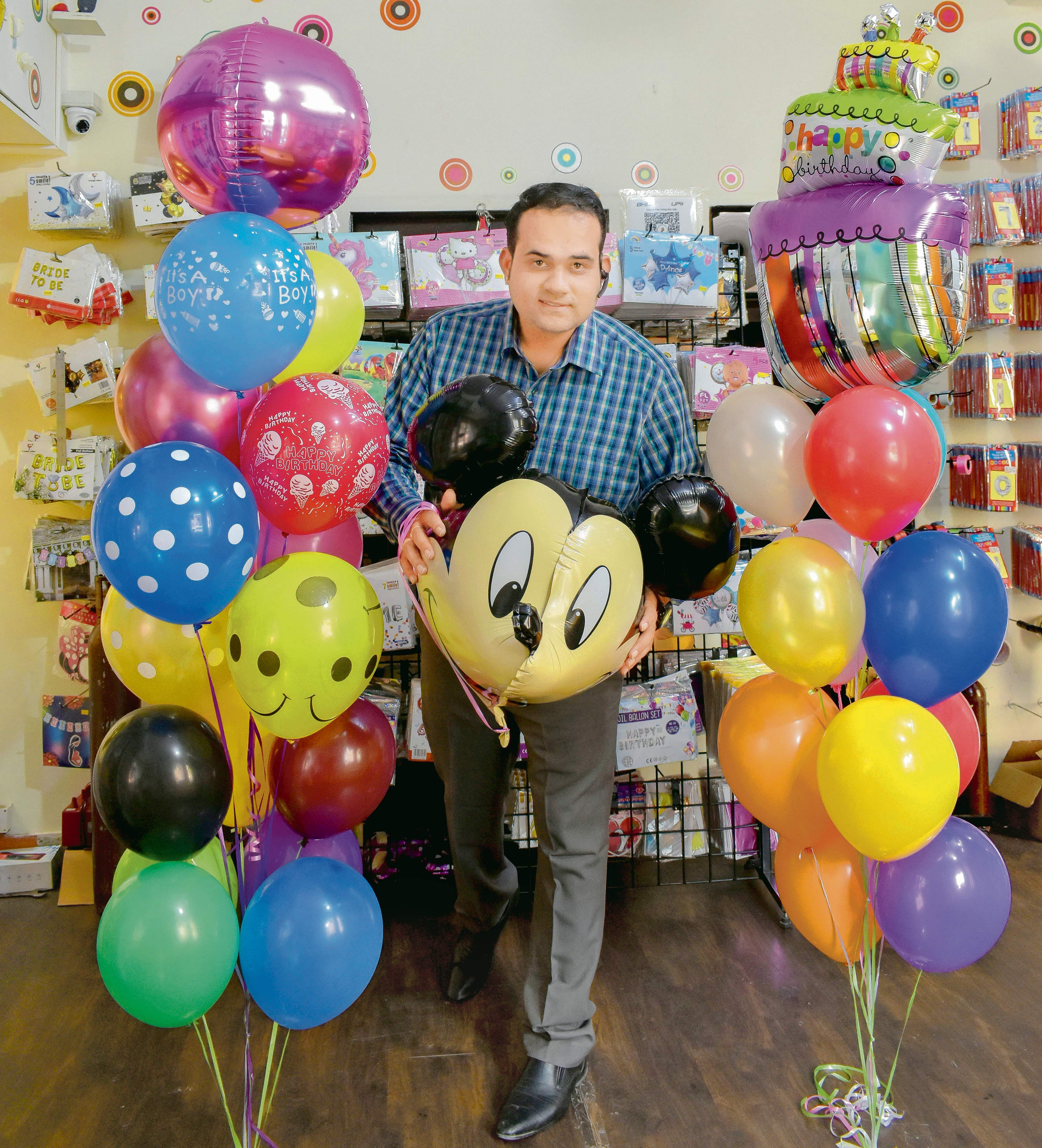 Book My Balloons' founder and chief happiness officer Ashwin Kannan.