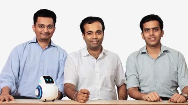 Co-founders of Emotix: (L-R) Prashant V. Iyenger, Sneh R. Vashwani, Chintatan S. Raikar.