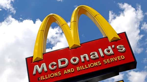 Photo shows the sign outside a McDonald's restaurant.  (AP)